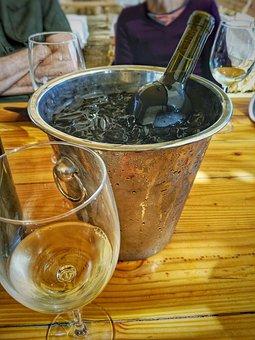 Wine, Bucket, Ice, Drink, Celebration, Party, Bottle