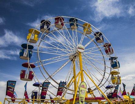 Carnival, County, Ferris Wheel, Fair, Fun, Summer