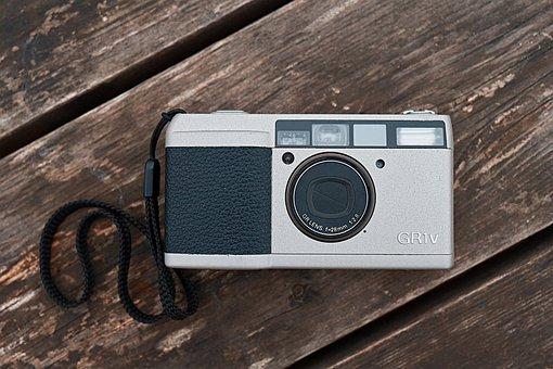 Film, Camera, Ricoh, Canon, Eos, Rp, Macro, Wood, Table