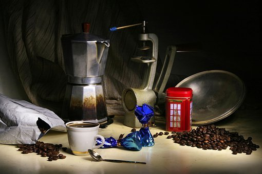 Still Life With Coffee, Grain, Drink, Black, Turk
