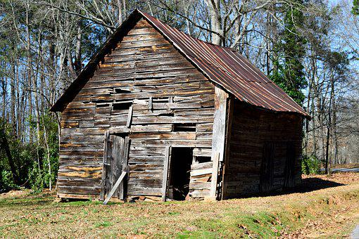 Old Rustic Shed, Barn Shed, Grunge