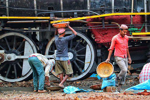 India, Workers, Track Construction, Railway, Hand Tool