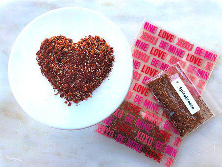 Valentine's Day, Gift, Valentine, Heart, Love, Spices