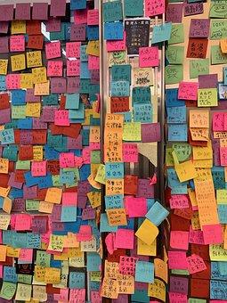 Hong Kong, Stickers, Posts Its