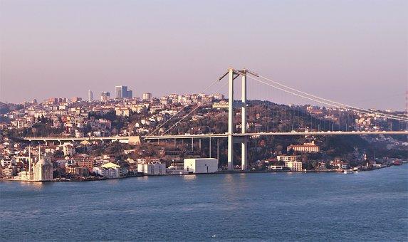 Marine, Boat, Bridge, Istanbul, Turkey, Travel, Holiday
