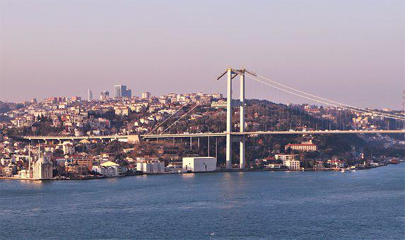 Marine, Boat, Bridge, Istanbul, Turkey