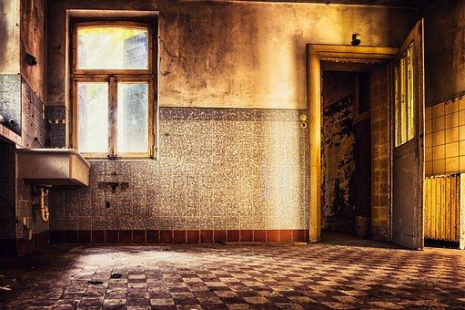 Kitchen, Tiles, Tile, Pforphoto, Lost Places
