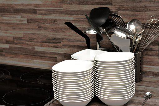 Kitchen, Kitchen Utensils, Gastronomy, Soup Bowls