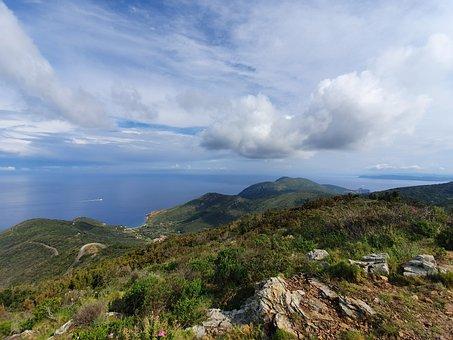 Moutains, Elba, Nature, Landscape