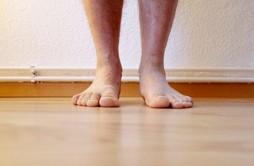 Feet, Barefoot, Ten, Legs, Man