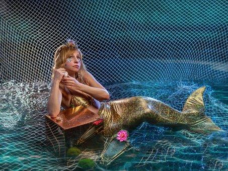 Mermaid, Siren, Sea, Ocean, Fantasy, Story, Neptune