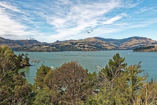New Zealand, Corsair Bay, Bay, Lyttelton, Christchurch