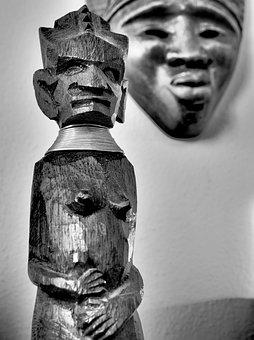 African Statuette, Wood, Statue, Sculpture, Figure, Old