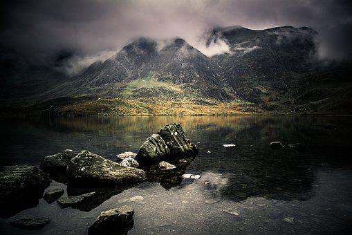 Wales, Lake, Snowdonia, Landscape, Outdoors, Scenic