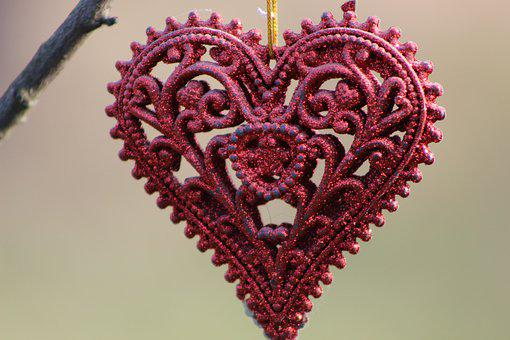 Subject, Thing, Ornament, Heart, Love, Closeup, Red