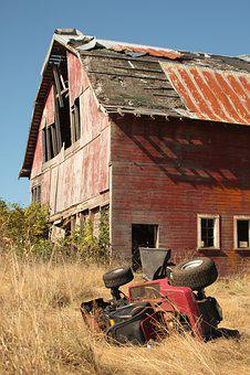 Stall, Old, America, Ruin, Quad, Atv, Usa
