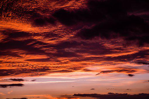 Sun, Sunset, Landscape, Clouds, Cloudy, Sea, Boats