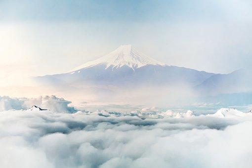 Japan, Fuji, Mountain, Clouds, Landscape, Sky, Asia