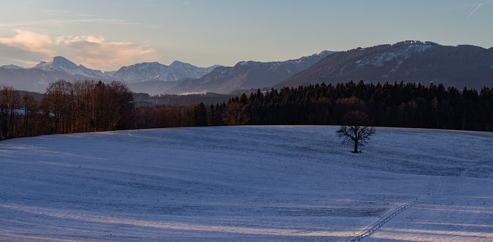 King Village, Bavaria, Landscape, Scenic, Cold, Snow