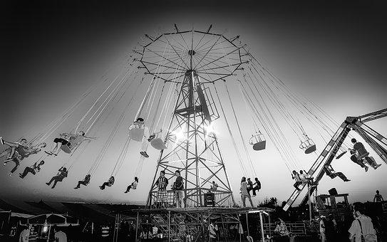 Funfair, Chain, Amusement, People, Spin, Turkey, Nikon
