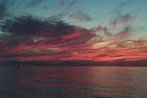 Sunset, Georgian Bay, Canada, Water, Nature, Ontario