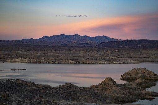 Lake Mead, Nevada, Usa, Water, Desert, Landscape