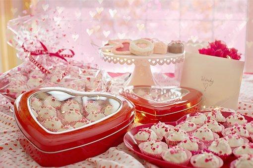 Valentine's Day, Valentine, Sweets, Treats, Cake Balls
