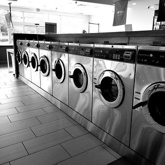 Laundromat, Laundry, Washers, Washer, Washing, Wash