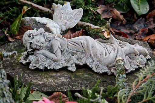 Angel, Cherub, Wing, Sculpture, Angel Figure