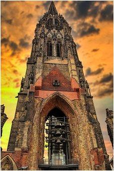 Church, Steeple, Building, Architecture, Sky, City