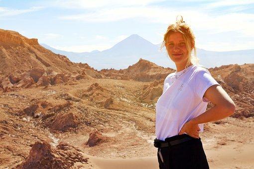 Chile, Desert, Atacama, Nature, Sky, Landscape, Dry
