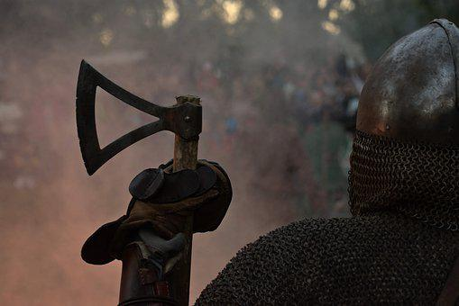The War, Viking, Battle Of, Fire, Ax, Knights