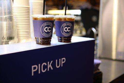 Coin Coffee, Coffee, Glass, Caffeine