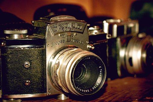 Camera, Flea Market, Nostalgia, Vintage, Retro