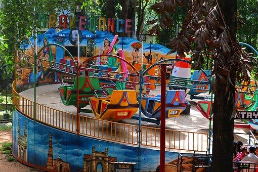 India, Carousel, Park, Playground, Pleasure