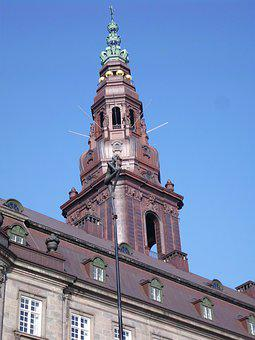 Castle, Christiansborg, Tower, Palace, Court Of Honor