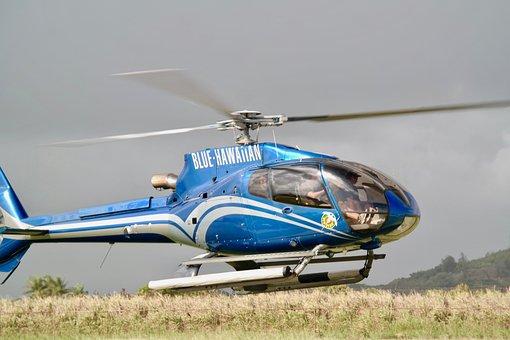 Helicopter, Flying, Departure, Flight, Landing Site