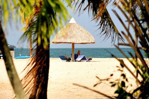 Beach, Palapa, Placencia, Belize, Palapas, Holiday