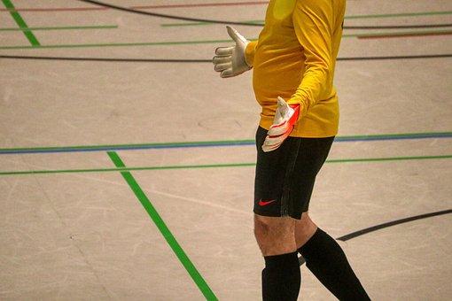 Indoor Soccer, Goalkeeper, Hand, Hand Motion, Football