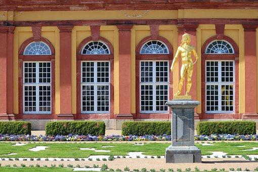 Schlossgarten, Barockschloss, Weilburg, Lahn, Statue