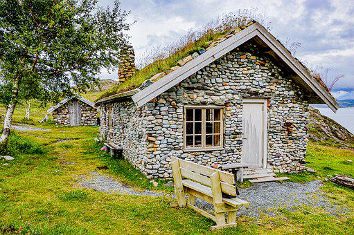 Norway, Hut, Mountain, Landscape, Nature, House, Travel