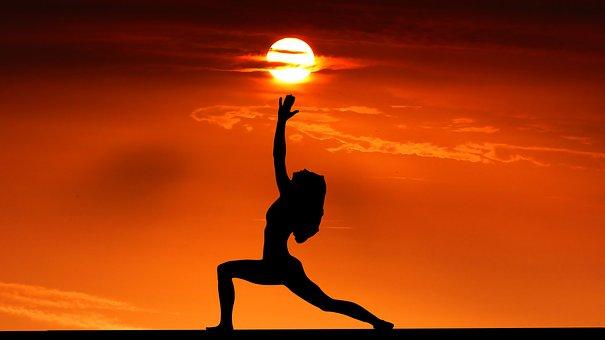 Sunset, Yoga, Zen, Meditation, Woman