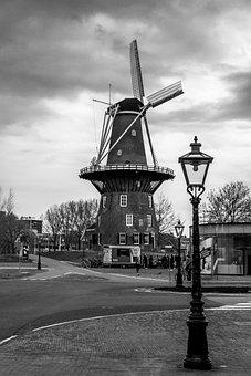 Leiden, Molen De Valk, Museum De Valk, Windmill, Mill
