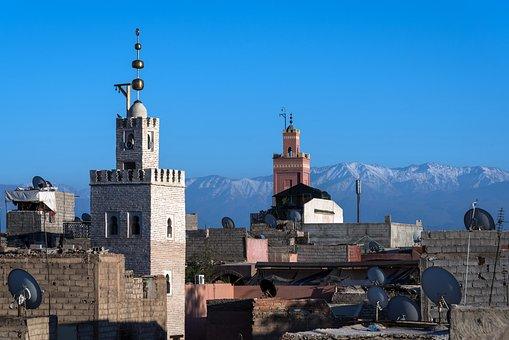 Marrakech, Mosque, Morocco, Architecture, Building