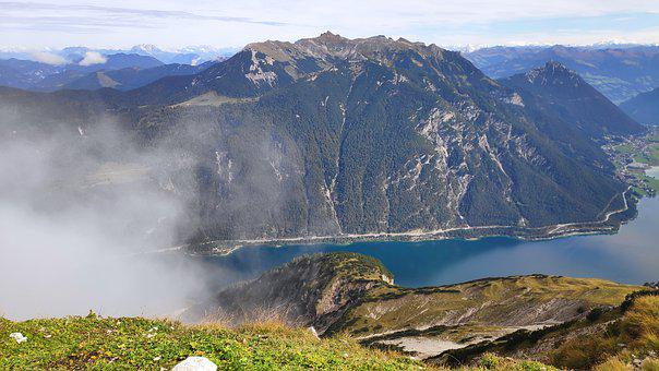Mountains, Lakes, Austria, Mountain Peak