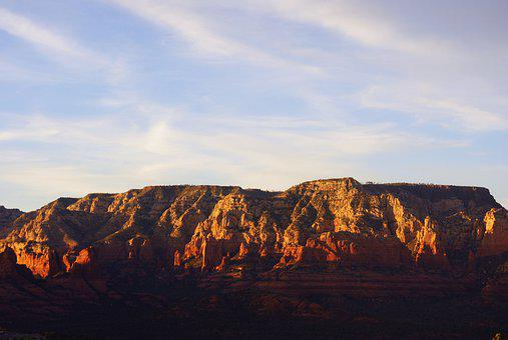Sedona, Mountain, Landscape, Mountains, Desert, Sky