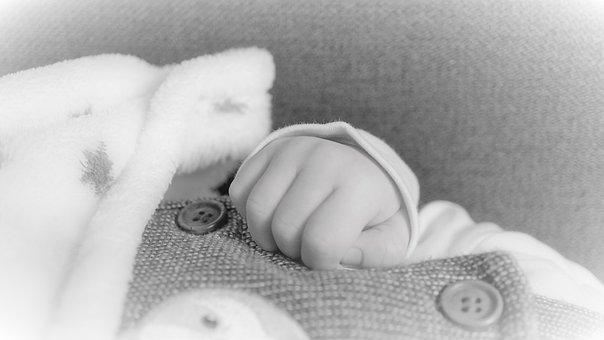 Baby, Newborn, Infant, Child, Black White, Birth