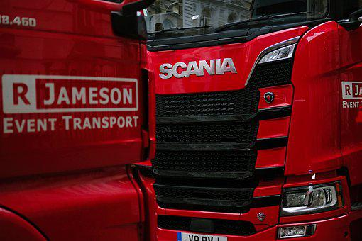 Red, Lorries, Fuji, Transport, Transportation, Cargo