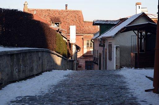 The Streets, Sighisoara, Old, Romania, Historic