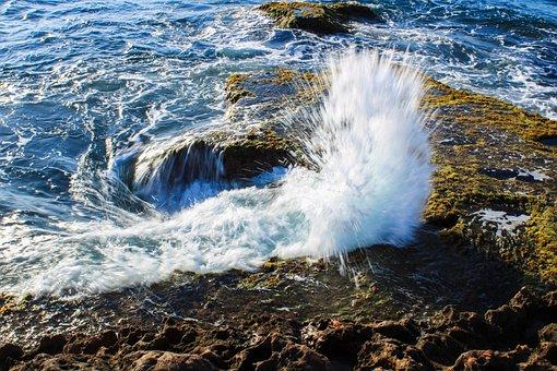 Sea, Waves, Beach, Water, Ocean, Marine, Coast, Spray